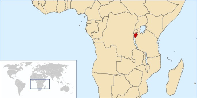 Localização Burundi