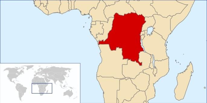 Localização Congo