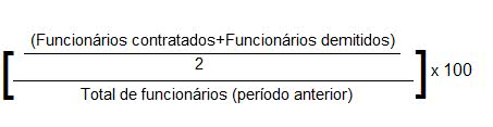 Turnover fórmula