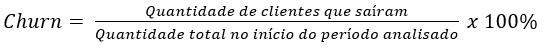 Fórmula Churn Rate