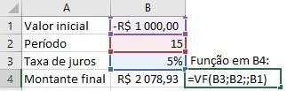 Calcular VF juros compostos