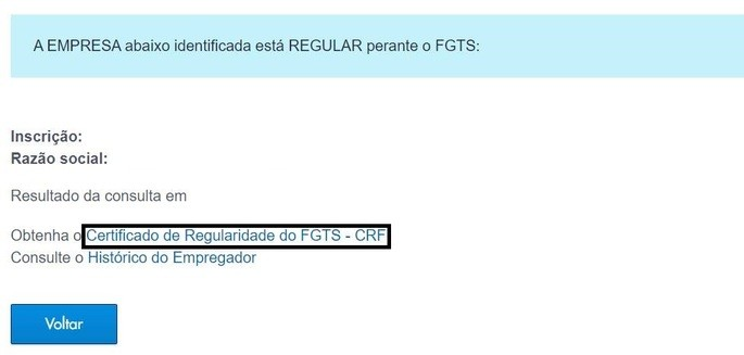 emissão CRF FGTS passo 2