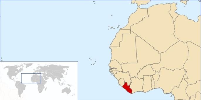 Libéria localização