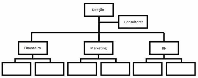 Estrutura organizacional linha-staff