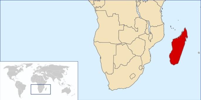 Localização Madagascar