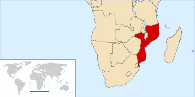 Localização Moçambique