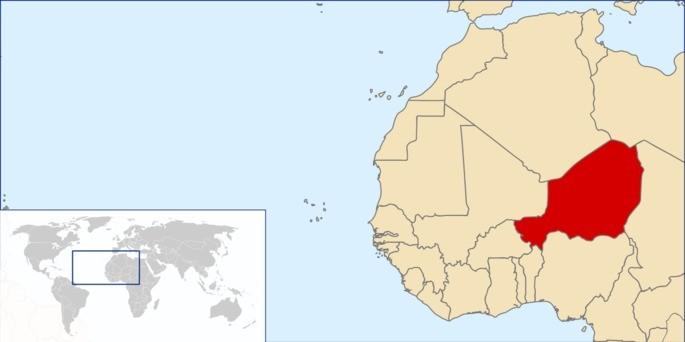 Localização Níger