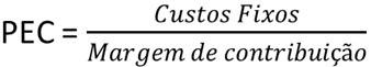 formula do ponto de equilibrio contábil