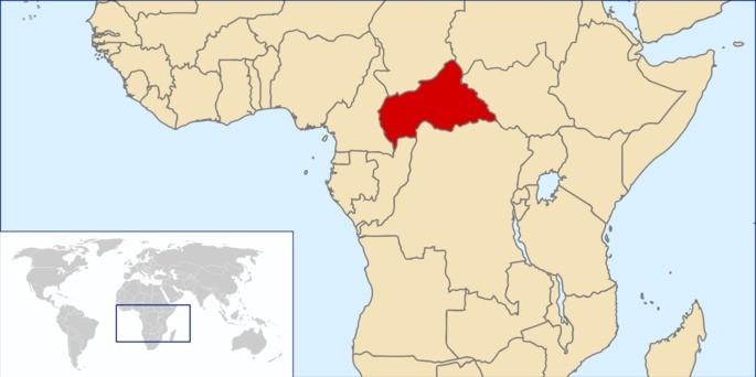 Localização República Centro Africana