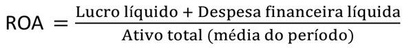 fórmula para calcular o retorno sobre capital investido dividindo o retorno e custo da dívida sobre o capital