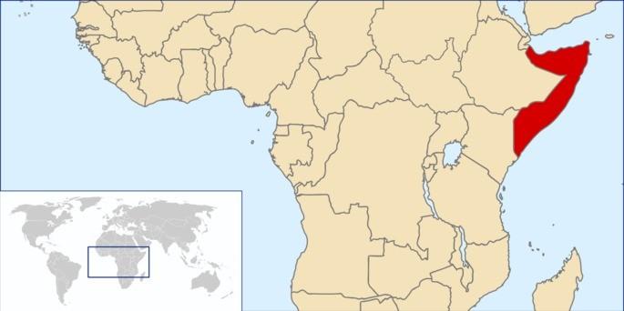 Localização Somália