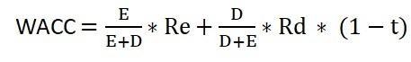 fórmula para o cálculo do WACC